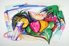 Alfred Gockel Früchtestillleben Poster Kunstdruck Bild 62x93cm - Portofrei