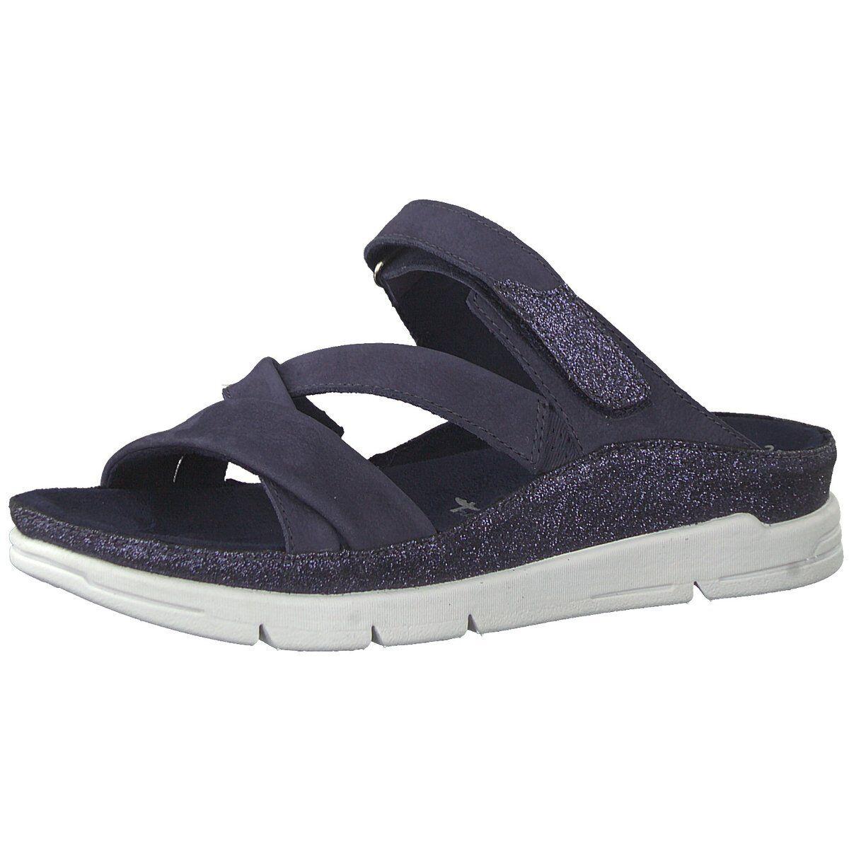 NEU Tamaris Damen Pantoletten Da.Sandale 1-1-27100-20805 blau 402471