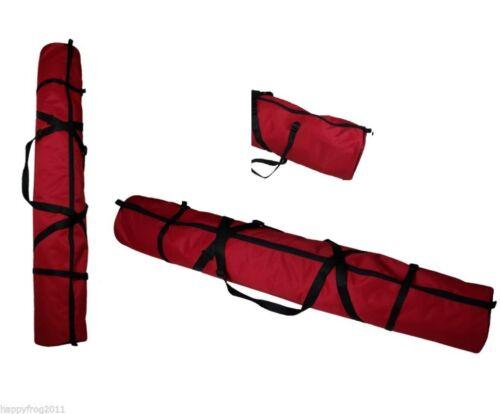 KIDS CHILDRENS SKI CARRY BAG HOLDALL RUCKSACK  LUGGAGE 110cm 120cm 130cm RED
