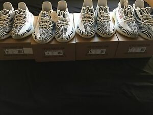 97e6c23caca2c Adidas Yeezy Boost 350 v2 Zebra White Black Red Authentic and 100 ...