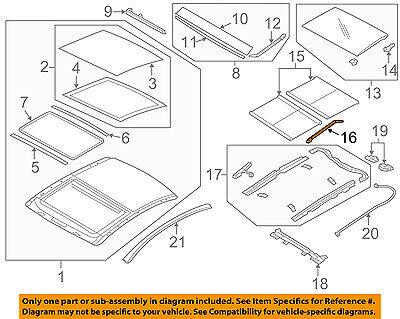Left Genuine Hyundai 81673-2W000 Panorama Roof Folding Cover