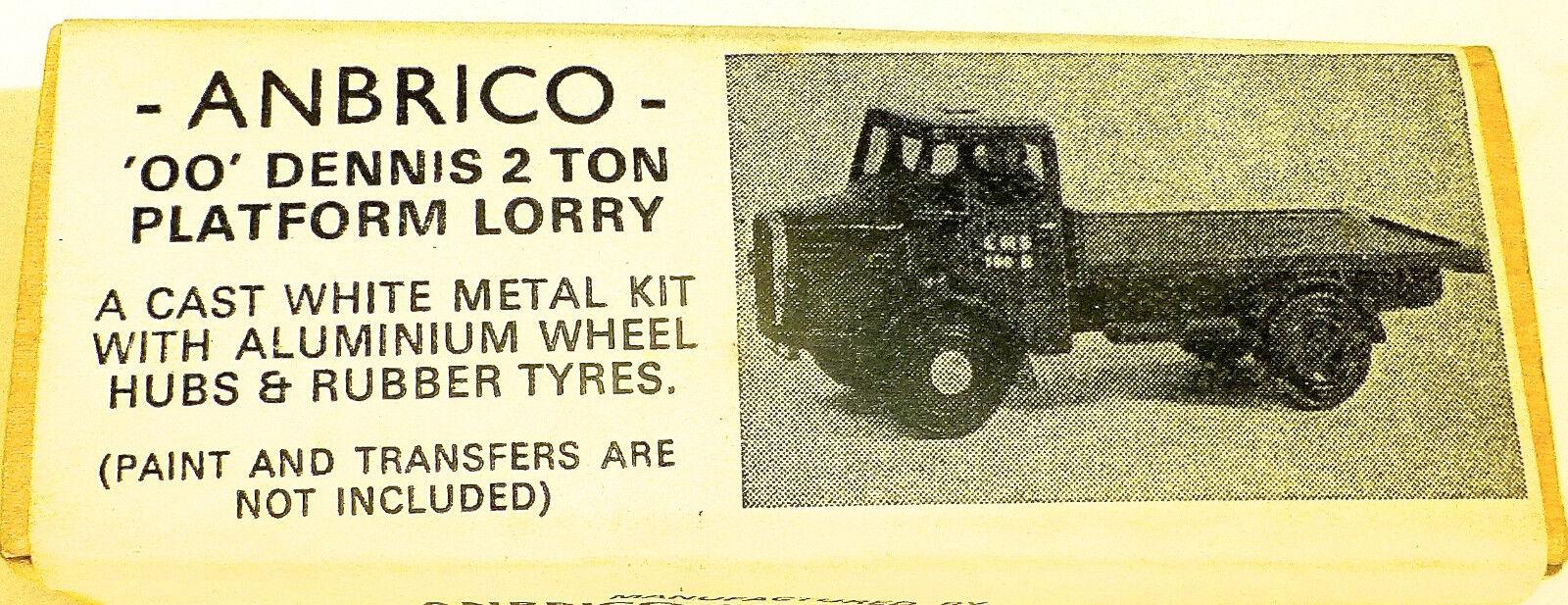 Oo Dennis 2 Tonnellata Piattaforma Autocarro Metallo Kit di Costruzione Anbrico