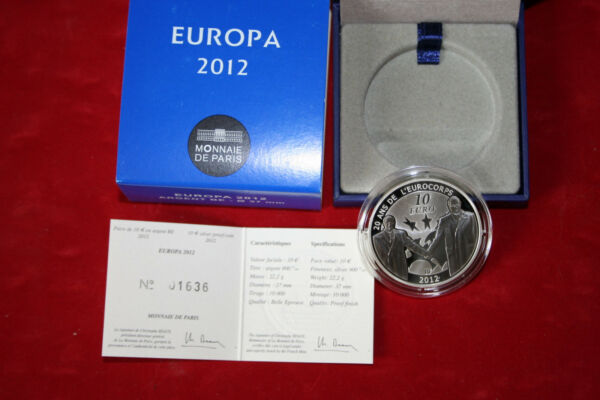 Amical Monnaie De Paris Avec Coffret- Europa 2012 10€ Argent... Bonne RéPutation Sur Le Monde