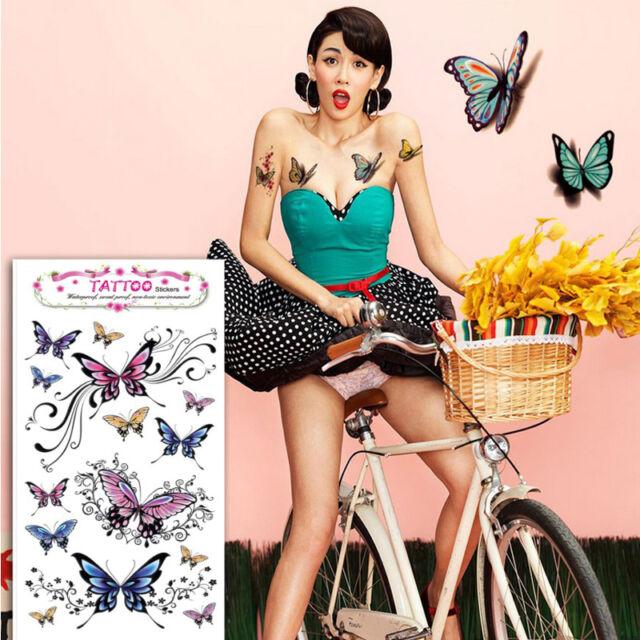 1 X Beauty Removable Waterproof Temporary Tattoo Butterfly Tattoo Body Sticker