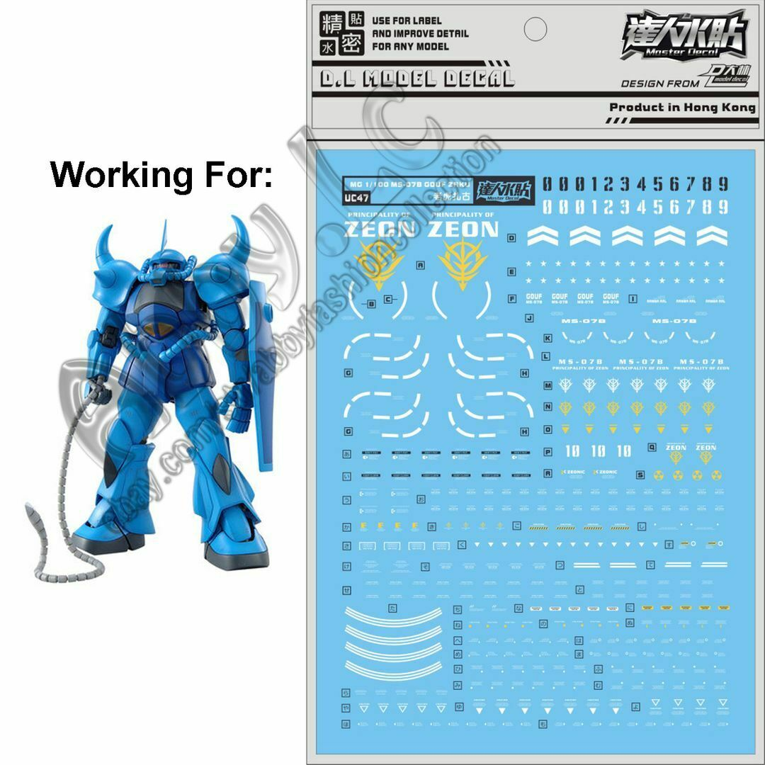 for MG 1//100 GN-003 Gundam Kyrios 00 Model Gunpla D.L Water Slide Decal Stickers