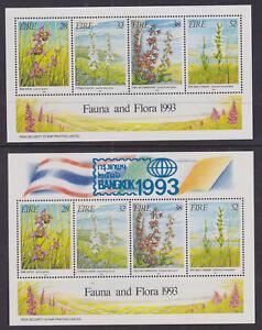 AgréAble Eire Irlande 1993 Comme Neuf Neuf Sans Charnière 2 Minisheets Faune Et Flore Irlandaise Orchidées & Bangkok Facile à Utiliser
