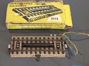 Vintage-HO-Scale-5112-Marklin-Marklin-034-M-034-Uncoupling-Track-section-dans-boite-jaune