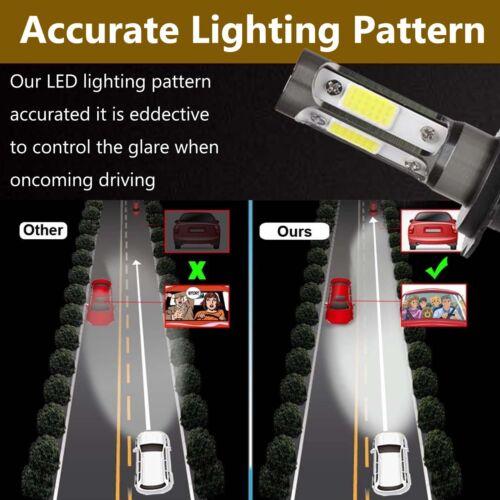 Autofather H7 LED Bulbs Car Headlight 4-Sided New Design 252W 25200LM Bright 2X