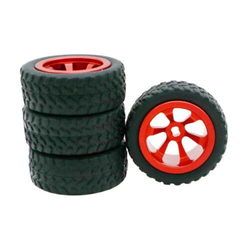 4 Stück 1:28 RC Car Metallrad Reifen Reifen für WLtoys K969 K989 P929 Teile