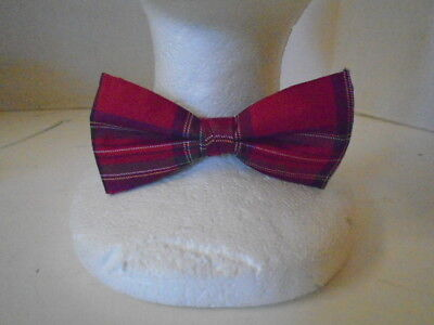 Plaid Papillon Formale Smoking Regolabile Matrimonio Ballo Seta Rosso Verde Blu