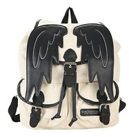 Supernatural Castiel Angel Wings Slouch Backpack Shoulder Bag Bookbag