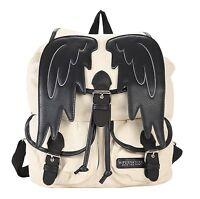 Supernatural Castiel Angel Wings Slouch Backpack Shoulder Bag Bookbag