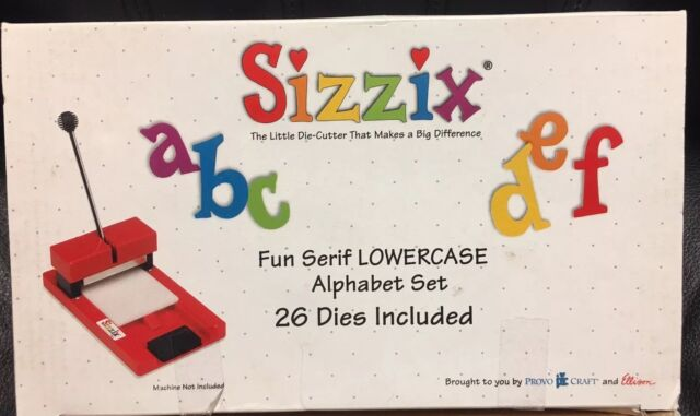 Sizzix Fun Serif Lowercase Alphabet Die Cut Collection 26 Dies A-z Letter  Set