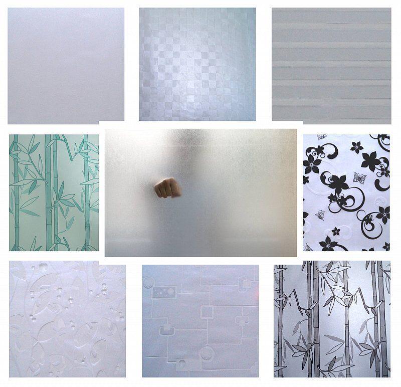 m² Fensterfolie Sichtschutz Klebefolie Fenster Bad Milchglas Glasfolie | Umweltfreundlich