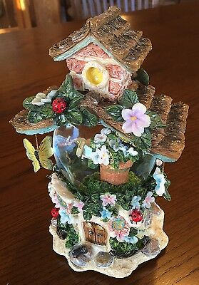 Beautiful Dreamer Faerie Fairy Treehouse Snow Globe / Muic Box Mother's Day Gift