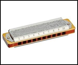 TOMBO 1210 Key of A Folk Blues harp Mark-II Diatonic 10 hole Harmonica