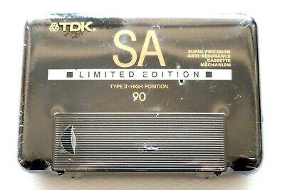 TDK SA-X 90 HIGH BIAS TYPE II BLANK AUDIO CASSETTE JAPAN 1988