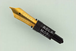 DéVoué New Osmiroid 65 75 Rola Rolatip Medium Oblique Hard Pen Star-flo Screw In Nib
