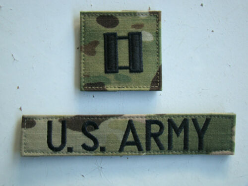 ARMY IRAQ /& AFGHANISTAN ISSUE ARMY CAPTAIN MULTICAM COMBAT BRANCH SERVICE TAPES