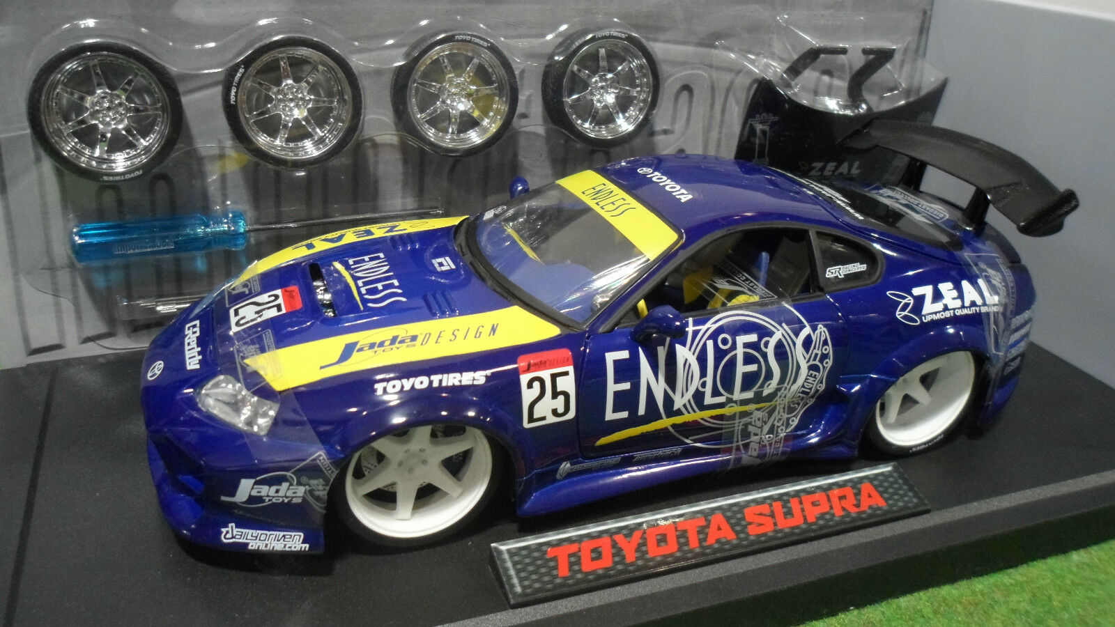 TOYOTA SUPRA TUNING Bleu 1 18 JADATOYS IMPORT RACER 63004 voiture