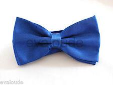 High Quality Plain Royal Blue Mens Adults Boys Dickie Bow Tie Adjustable Wedding