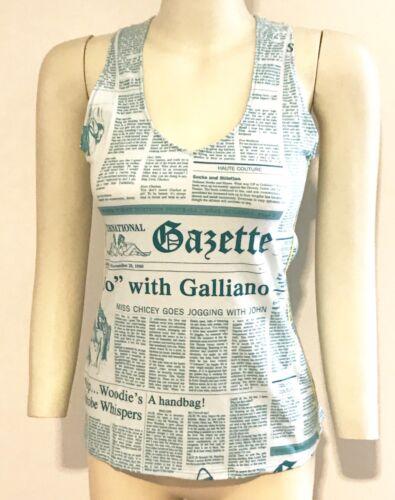 Galliano auténtica sin l John Nueva Tamaño Camiseta gaceta mangas 3 pxnqww6