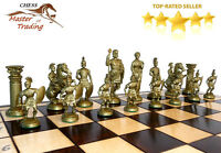 ''sparta'' Decorative Chess Set 50x50 Stunning Chessboard And Weighted Pieces