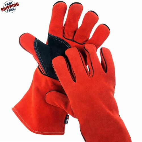 Welding Gloves For Welding Premium Leather Anti-Heat Sparking