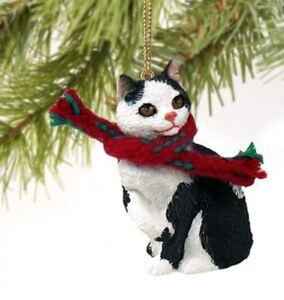 image is loading manx black amp white tabby cat christmas ornament - Black Cat Christmas Ornament