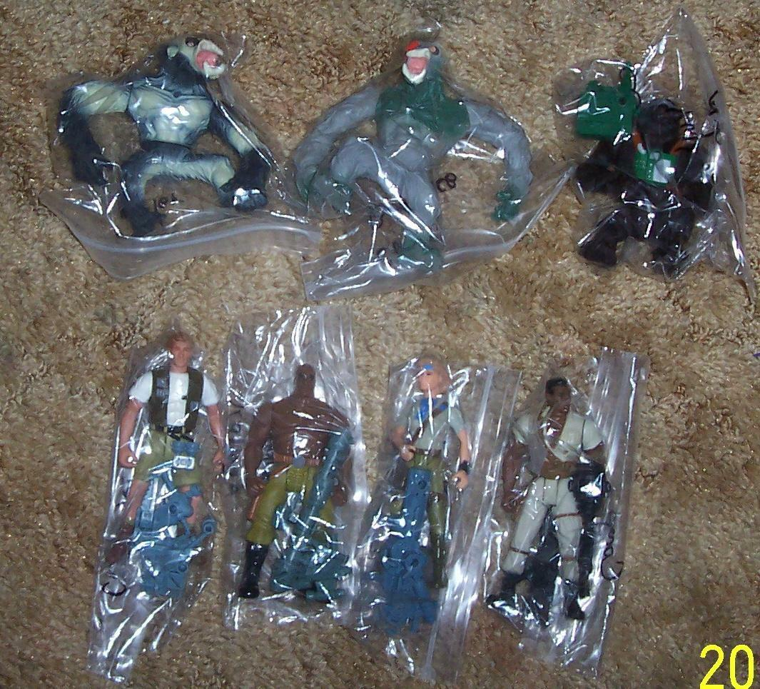 1995 Kenner Congo 7 figure Collection Lot Rare HTF