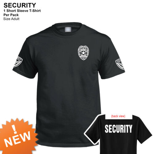 Security T-shirt short sleeves black 100/% cotton new Security Officer Shirt SALE