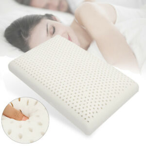 NATURAL-LATEX-PILLOW-Standard-Size-Breathable-Comfortable-With-Pillow-Cover