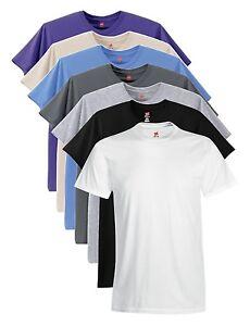 Hanes-USA-Nano-T-Baumwolle-T-shirt-schwarz-weiss-BLAU-GRAU-ARMEEGRUN-T-shirt