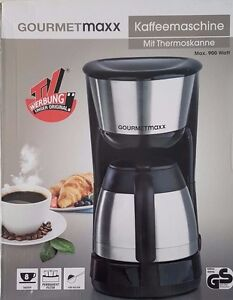 gourmetmaxx kaffeemaschine mit thermoskanne permanent filter 900watt ebay. Black Bedroom Furniture Sets. Home Design Ideas