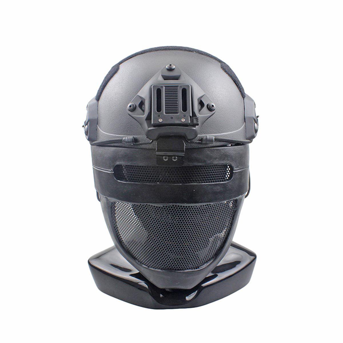Handmade Wire Mesh Glass Fiber Resin Airsoft CS Half Face mask For Helmet M094
