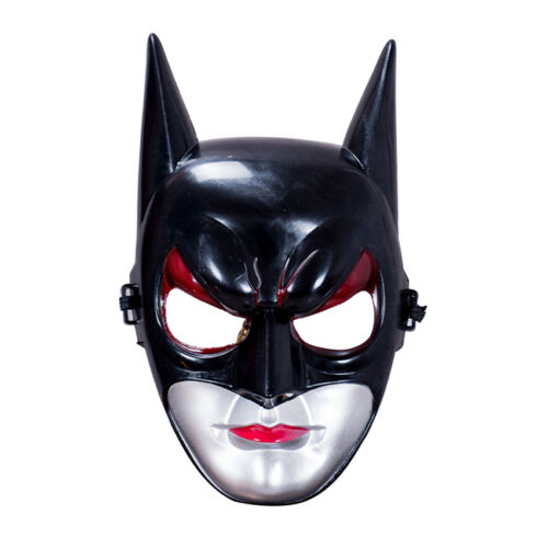 Halloween Half//Full Face Batman Mask Adult Black For Carnival Masquerade Party