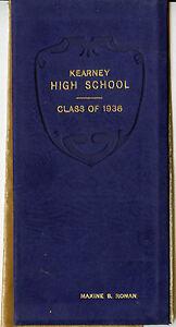 1936-Kearney-Nebraska-High-School-Diploma-RONAN-Family-Class-Roll-Names