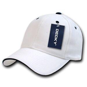 White Amp Black Sandwich Visor Bill Plain Blank Baseball Ball Cap Hat Caps Hats Ebay