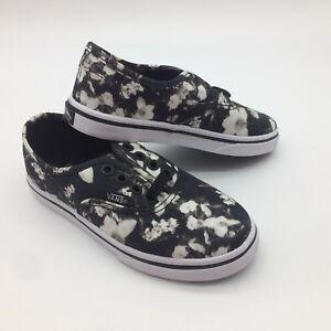 Kids's Negro Trwht Vans borroso Lo auténtico Floral Pro Zapatos gTdxnB