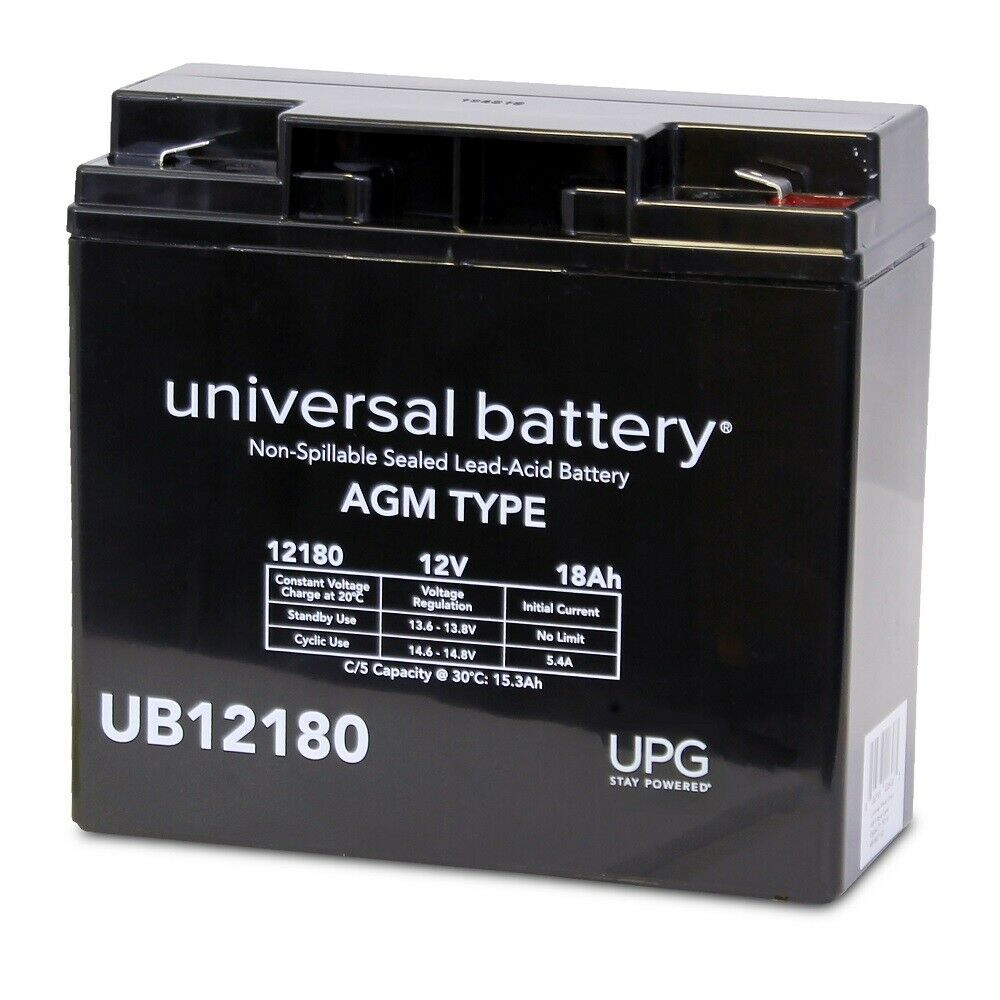 UPG 12V 18AH F2 .250 Replacement Battery for ENDURING 6-DW-17 ENERSYS NP1812B