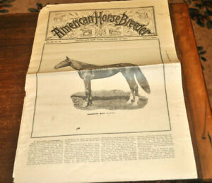 American-Horse-Breeder-Sep-1891-w-Mambrino-Maid-Tons-Veterinary-Cure-amp-Farm-Ads