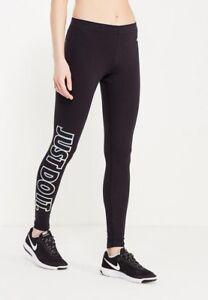 Détails sur Womens Nike metallic GX Club Gym Sports Workout Fitted Leggings Black Metallic