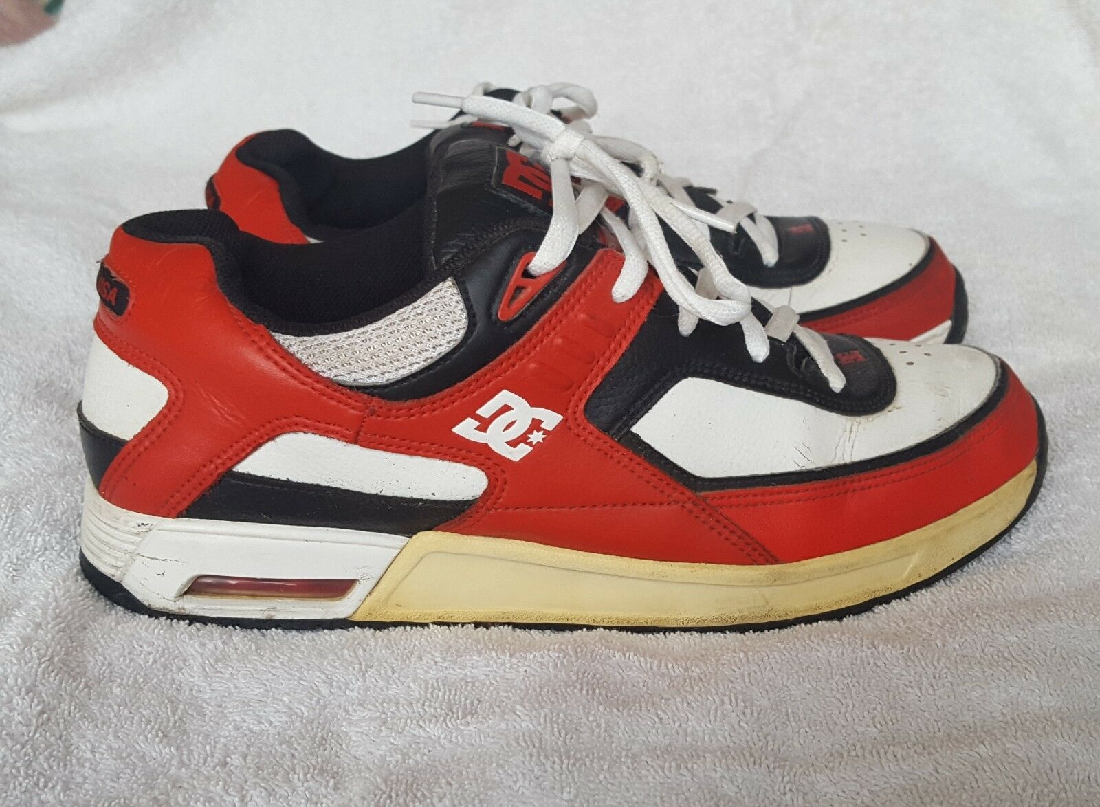 DC 'TEN' Skate schuhe - ROT Rob Dyrdek model in ROT - - UK10 - Rare 18fe63