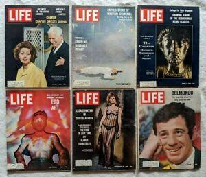 1966 6 ISSUES LIFE MAGAZINE LSD SOPHIA LOREN UFO'S BLACK ...