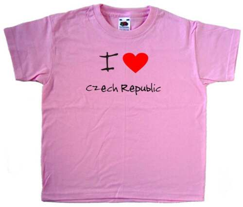 I Love Heart Czech Republic Pink Kids T-Shirt