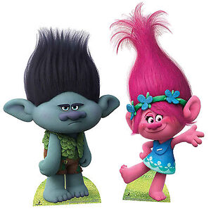 Image Is Loading Poppy Amp Branch Trolls Cardboard Cut Out Party