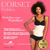 Ardyss Authentic Golden Corset Body Magic Waist Training Cincher Firm Control