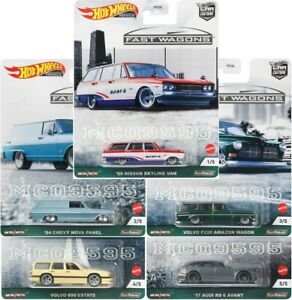 HOT-WHEELS-2021-CAR-CULTURE-FAST-WAGONS-COMPLETE-SET-OF-5-CAR-PRE-ORDER
