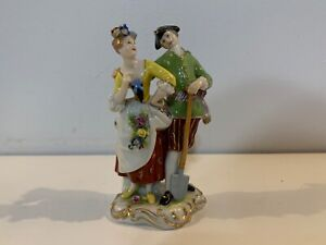 Antique-Volkstedt-Porcelain-Figurine-of-Courting-Couple