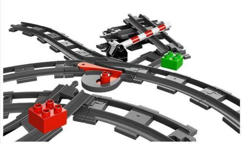 LEGO DUPLO Weiche Schienen Bahnübergang Schranke Gleise Rails Train 10506 3775